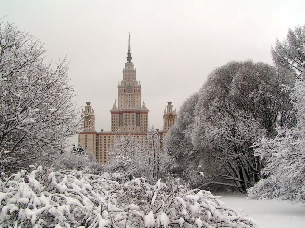 Фотки зимней погоды москва центр